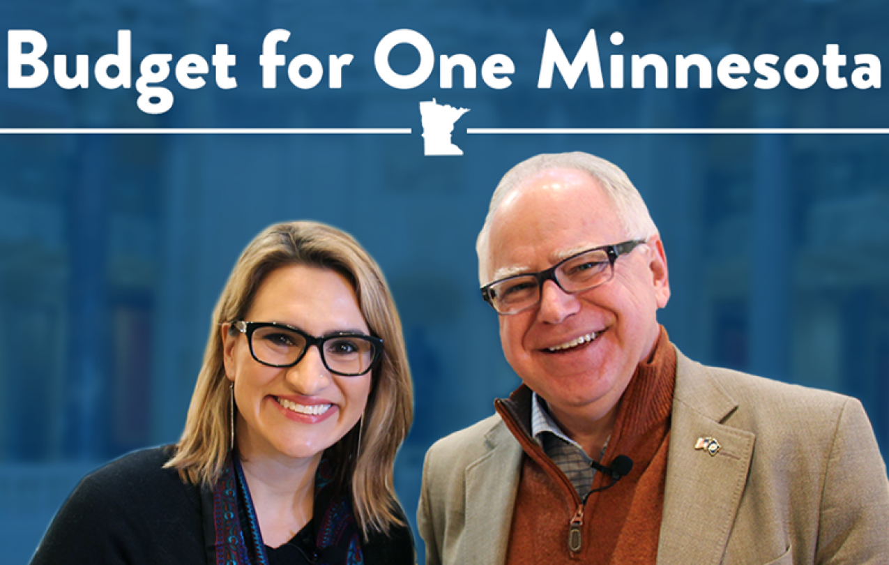 Governor Tim Walz and Lt. Governor Peggy Flanagan